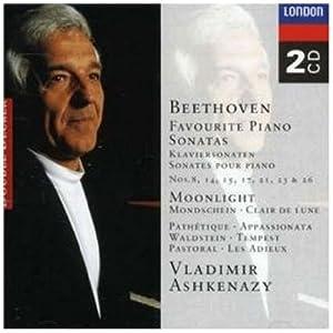 Beethoven Favourite Piano Sonatas 8 14 15 17 21 23 26 by Decca (UMO)