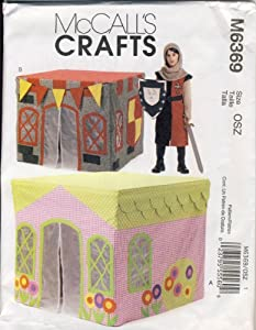 McCall Sewing Pattern M6369 - Use to Make - Children's Playhouse - Fits Over Standard Card Table
