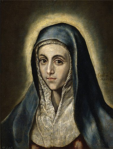 The High Quality Polyster Canvas Of Oil Painting 'El Greco The Virgin Mary Ca. 1597 ' ,size: 8 X 11 Inch / 20 X 27 Cm ,this Reproductions Art Decorative Prints On Canvas Is Fit For Home Office Gallery Art And Home Gallery Art And Gifts (Ca Ged compare prices)