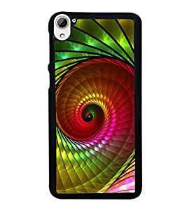 printtech Spiral Design Colorful Back Case Cover for HTC Desire 826 Dual