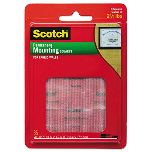 Scotch R Mounting Squares For Fabric Walls 021200509452