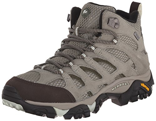 Merrell Women's Moab Mid Waterproof Hiking Shoe, Granite, 9 M US