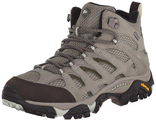 Merrell Women's Moab Mid Waterproof Hiking Shoe, Granite, 9 M US