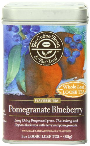 The Coffee Bean & Tea Leaf Pomegranate Blueberry Green, Oolong, Black Teas, 3 Ounce Loose Tea (Coffee Black Tea compare prices)