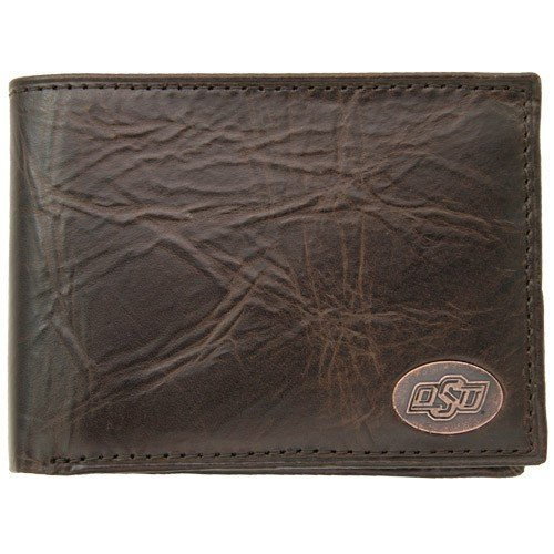Fossil Oklahoma State Cowboys Brown Leather Traveler Wallet