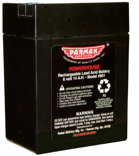 Parmak 901 6-Volt Gel Cell Battery for Solar Powered Electric Fences (Battery Electric Fence compare prices)