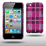IPOD TOUCH 4 LATTICE PATTERN DISCO BLING CASE BY CELLAPOD CASES