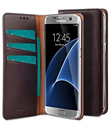 Samsung Galaxy S7 Edge Melkco Italian Cowhide Leather Herman Series Book Style Case Hand Made With Premium Leather with a different style