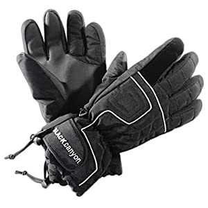 Black Canyon Thinsulate Ski Gloves Reinforced With Kevlar - S, Black