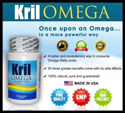 Krilomega - Sufficient Dose, 100% Pure And Natural And With Great Bioavailability