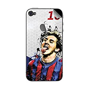 ezyPRNT Apple iphone 4/4s Lionel Messi 'Messiah' Football Player mobile skin sticker