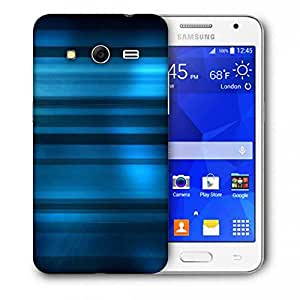 Snoogg Blue Dark Pattern Printed Protective Phone Back Case Cover For Samsung Galaxy Core 2 / Core II G355H