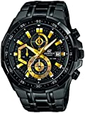 Casio  0 - Reloj de cuarzo para hombre, con correa de acero inoxidable, color negro
