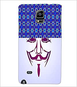 PrintDhaba Vendetta D-3747 Back Case Cover for SAMSUNG GALAXY NOTE 2 (Multi-Coloured)