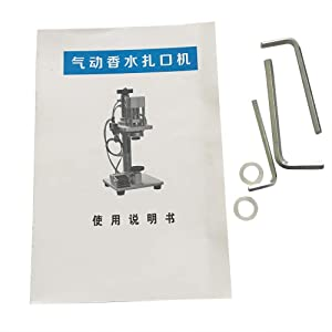 Pneumatic Perfume Crimping Machine Press Capper Lid Cap Locking Machine Metal Cap Bottle Sealing Machine USA STOCK