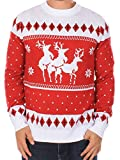 Ugly Christmas Sweater - Reindeer Menage a Trois Sweater by Tipsy Elves (L)
