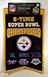 NFL Pittsburgh Steelers 6X Super Bowl Champions Banner, One Size, Multicolor