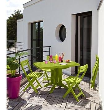 Salon de jardin Grosfillex vert anis ) - fr-shop