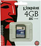 Kingston SD4/4GB- Tarjeta de memoria SecureDigital de 4 GB, azul