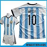2014-15年版子供用ユニフォーム アルゼンチン代表タイプ ホーム メッシ #10 上下セットレプリカ