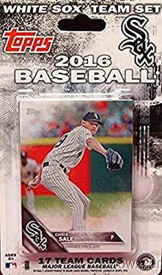 Chicago White Sox 2016 Topps Baseball Factory Sealed EXCLUSIVE Special Limited Edition 17 Card Complete Team Set with Jose Abreu, Carlos Rodon & Many More Stars & Rookies! Shipped in Bubble Mailer!