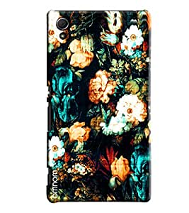Omnam Flower Pattern Printed Designer Back Cover Case For Sony Xperia Z4
