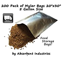 Dry-Packs Mylar Bags 20 by 30-Inch for Dried Dehydrafted