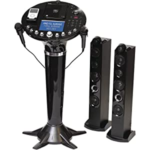 "Singing Machine Pedestal CD+G Karaoke Player w/ iPod Dock & 7"" LCD Color Monitor"