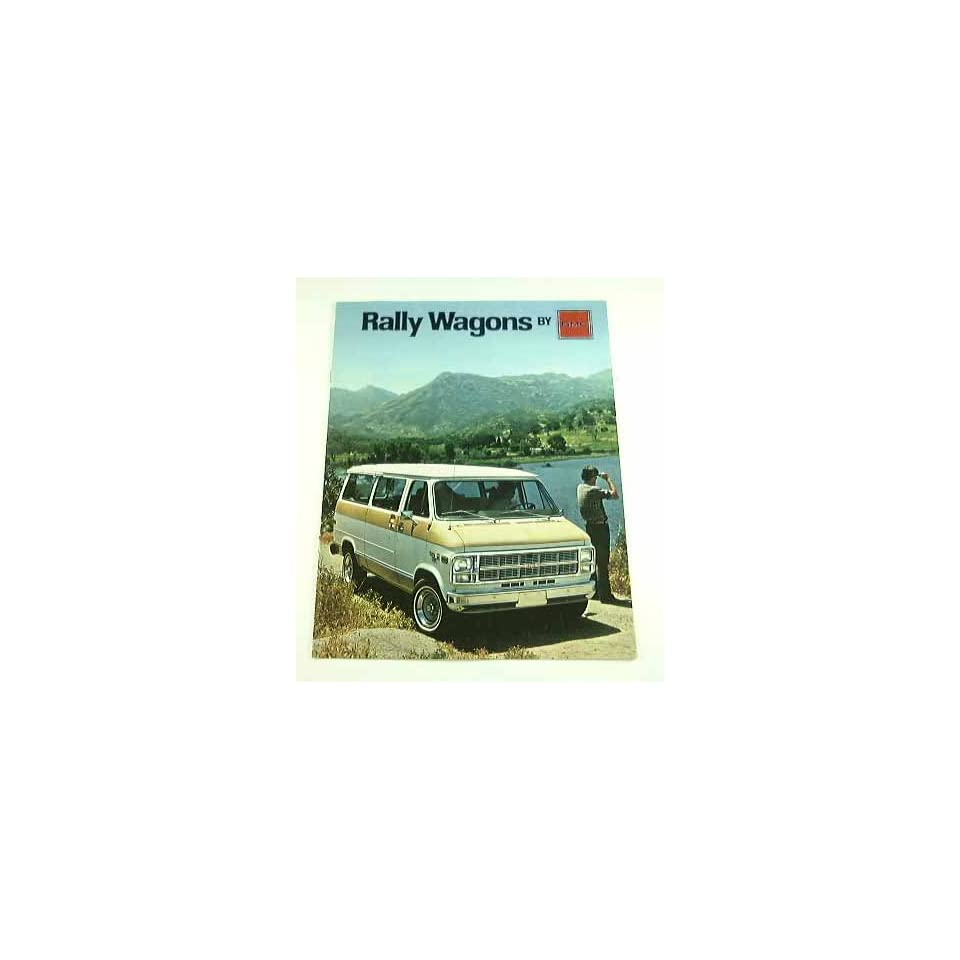 1979 79 GMC RALLY WAGON Van BROCHURE STX G2500 G3500