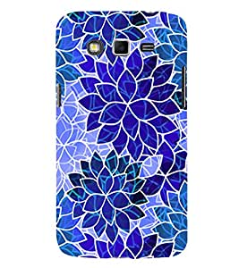 PrintVisa Modern Art Leaf Pattern 3D Hard Polycarbonate Designer Back Case Cover for Samsung Galaxy Grand 2