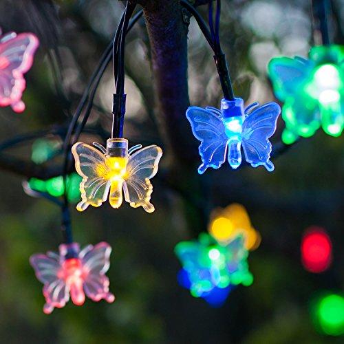 30 luci con led multicolore a forma di farfalla con for Luci led colorate