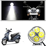 #5: Vheelocityin 4 Led Small Circle Motorcycle Light Bike Fog Lamp Light - 1 Pc For Honda Activa 125