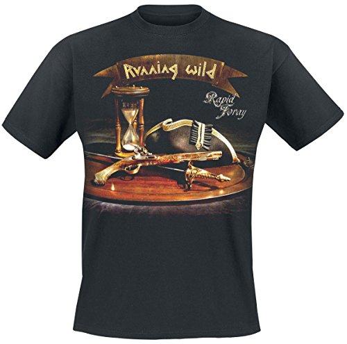 Running Wild Pirates Unite T-Shirt nero XXL