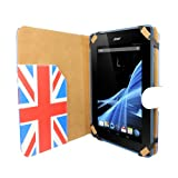 Aquarius Patriotic UK Wallet Case Cover with Magnetic Snap Closure for Acer Iconia Tab B1-A71