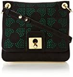 Orla Kiely Punched Square Flower Mini Ivy Cross Body Bag