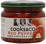 Cooks & Co Red Peppers with Feta Cheese 290 g (Pack of 6)