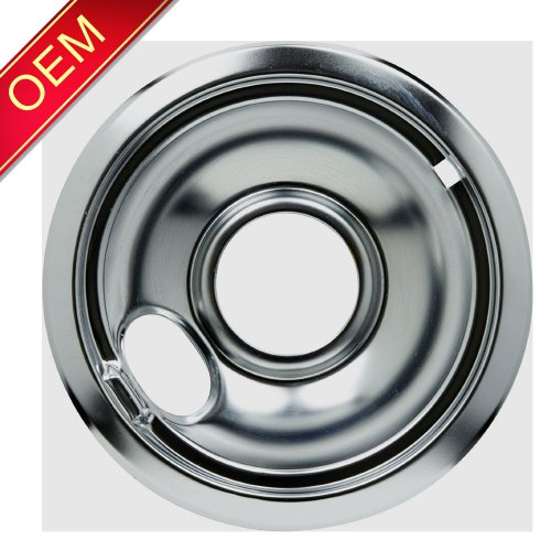 "1065-209 Oem Factory Genuine Whirlpool Kenmore Maytag Kitchenaid Jenn Air Amana Magic Chef Admiral Norge Roper Estate 6"" Inch Universal Chrome Drip Pan"