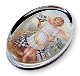 Lily of the Valley - Oval Glass Paperweight