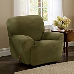 Maytex Collin Stretch 4PC Slipcover Moss Recliner