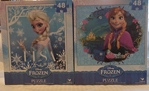Disney Frozen Elsa and Anna Puzzles 48 Pieces Each