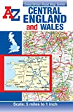 img - for Central England & Wales Road Map (A-Z Road Map) book / textbook / text book