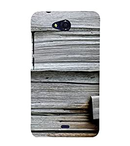 PrintVisa 3D Wooden Pattern 3D Hard Polycarbonate Designer Back Case Cover for Micromax Canvas Play Q355