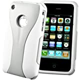 32nd® Day Cup series case cover for Apple iPhone 3GS 3 + screen protector, cleaning cloth - Silver