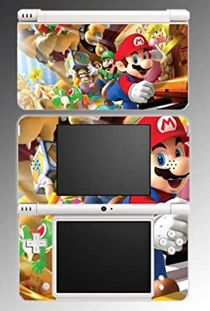 New Super Mario Bros Luigi Game Vinyl Decal Cover Skin Protector #8 for Nintendo DSi XL