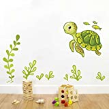 Rawpockets Decal ' Under Water Story ' Multi-Color Extra Large Size Wall Sticker(Material- PVC Vinyl Matte Finish,Wall Coverage Area -Height -90cm X Width -145cm)( Pack Of 1)