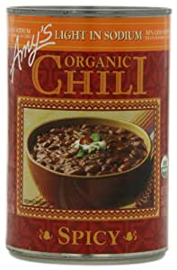 Amy's Organic Chili, Light in Sodium Spicy, 14.7 Ounce (Pack of 12)