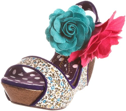 Irregular Choice Women's Lady Passion Blue/Beige Wedge 3922-5A 3.5 UK