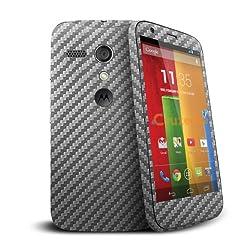 Moto G Cruzerlite Carbon Fiber Finish Scratch Free Vinyl Skin Cover for Motorola Moto G -Carbon Fiber Graphite