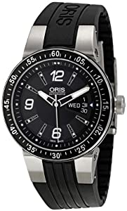 Oris Men's 4164RS Williams F1 Team Black Dial and Stainless Steel Rubber Strap Watch from Oris