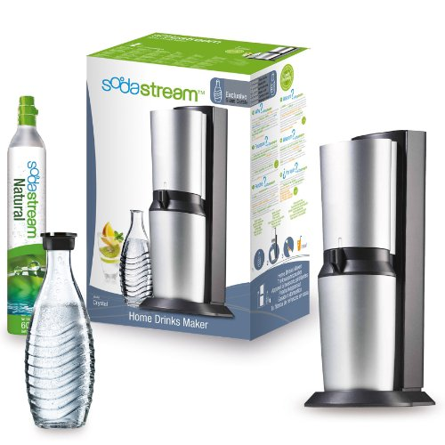 Sodastream Crystal Home Drinks Maker Stainless Steel Plastic Silver 44.5 cm x 12 cm x 24 cm